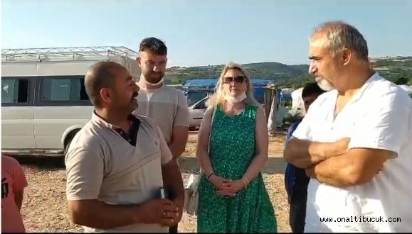 Cumhuriyet Halk Partisi İnegöl ilçe örgütü, mevsimlik işçileri yaşadıkları çadırlarda ziyarete bulundu.